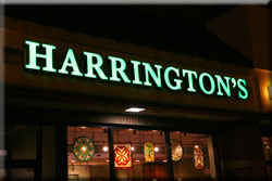 Harringtons store at night